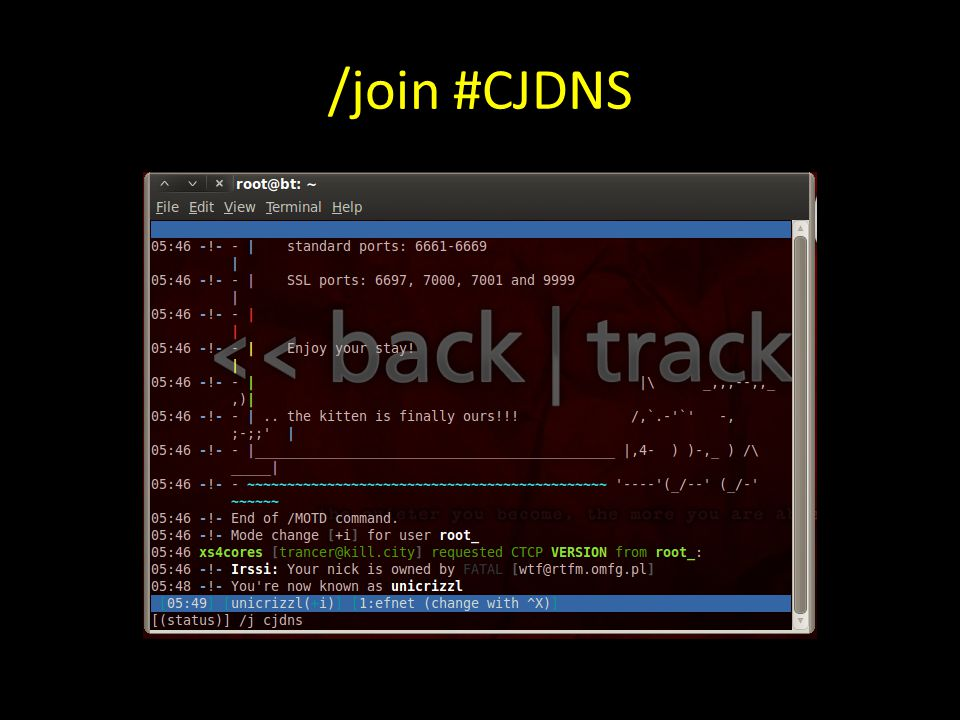 /join #CJDNS
