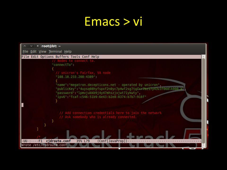 Emacs > vi