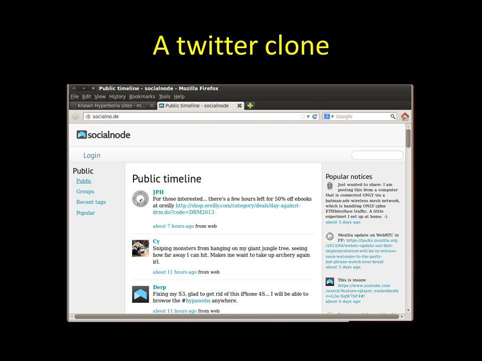 A twitter clone