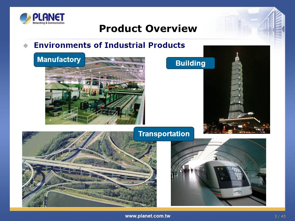 Product Overview Environments of Industrial Products Manufactory