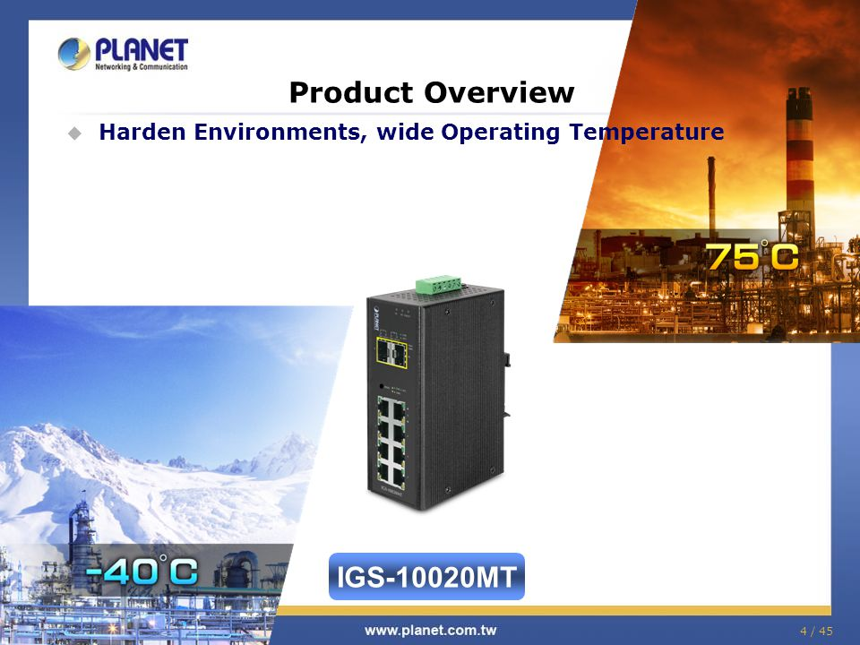 Product Overview IGS-10020MT