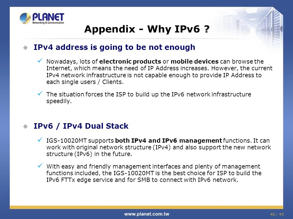Appendix - Why IPv6 IPv4 address is going to be not enough