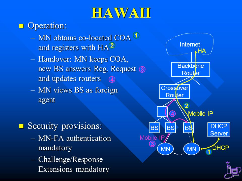 HAWAII Operation: Security provisions: