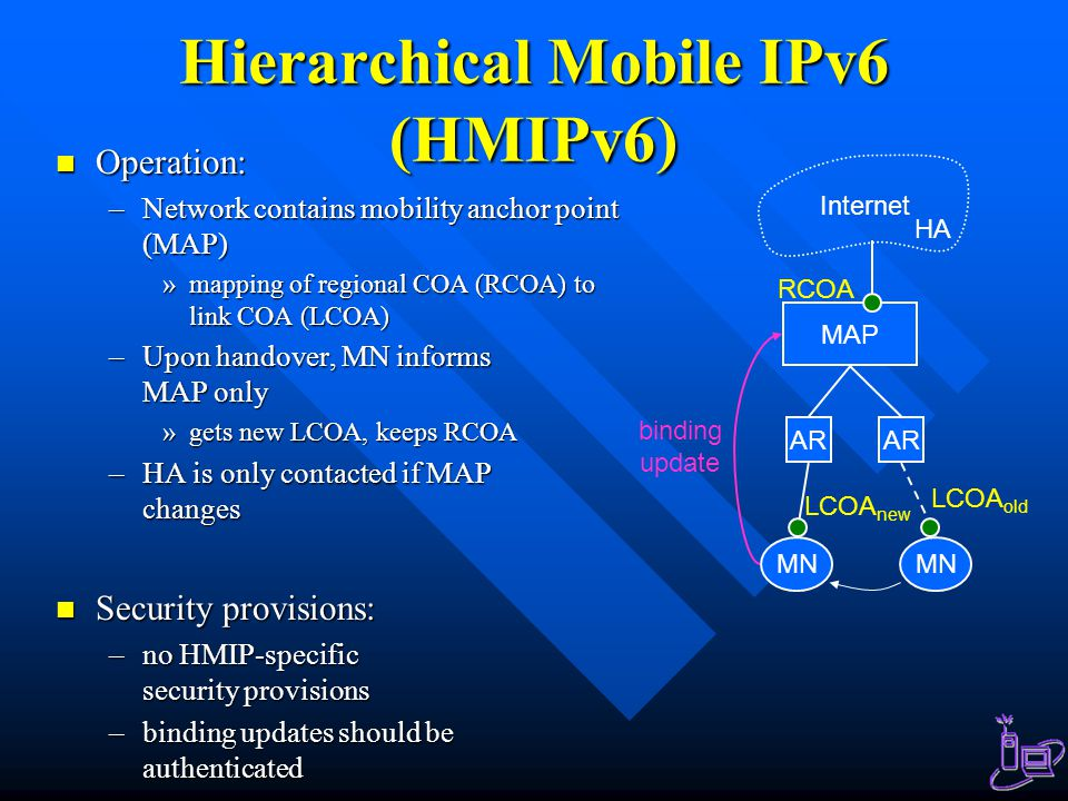 Hierarchical Mobile IPv6 (HMIPv6)