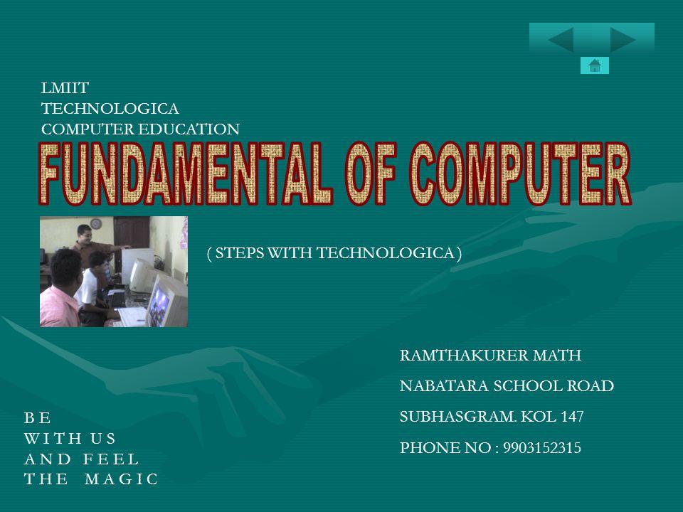 FUNDAMENTAL OF COMPUTER