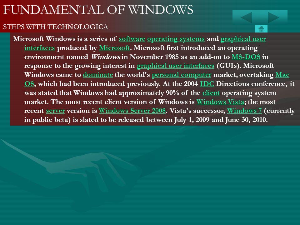 FUNDAMENTAL OF WINDOWS