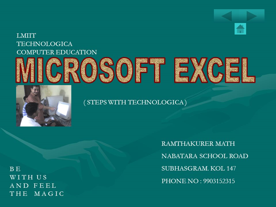 MICROSOFT EXCEL LMIIT TECHNOLOGICA COMPUTER EDUCATION