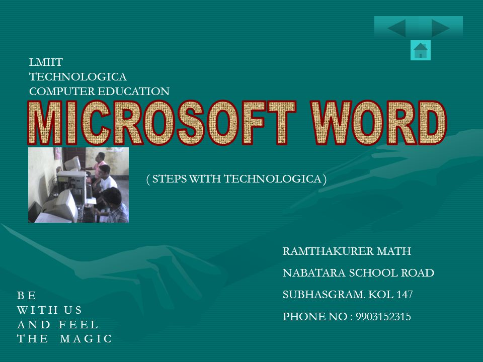 MICROSOFT WORD LMIIT TECHNOLOGICA COMPUTER EDUCATION