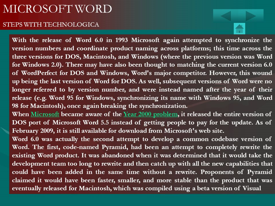 MICROSOFT WORD STEPS WITH TECHNOLOGICA