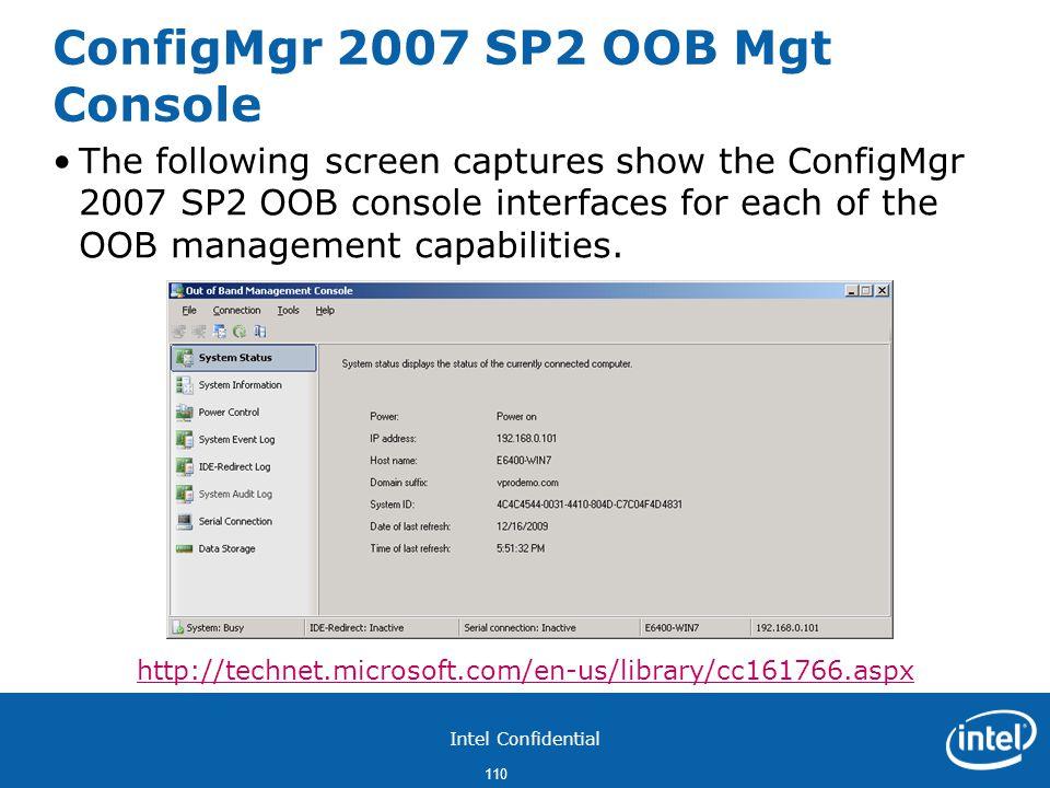 ConfigMgr 2007 SP2 OOB Mgt Console