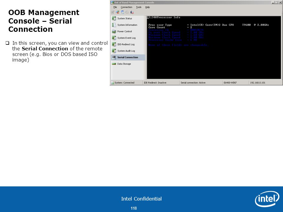 OOB Management Console – Serial Connection
