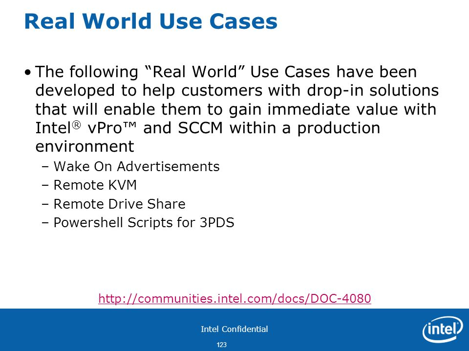 Real World Use Cases