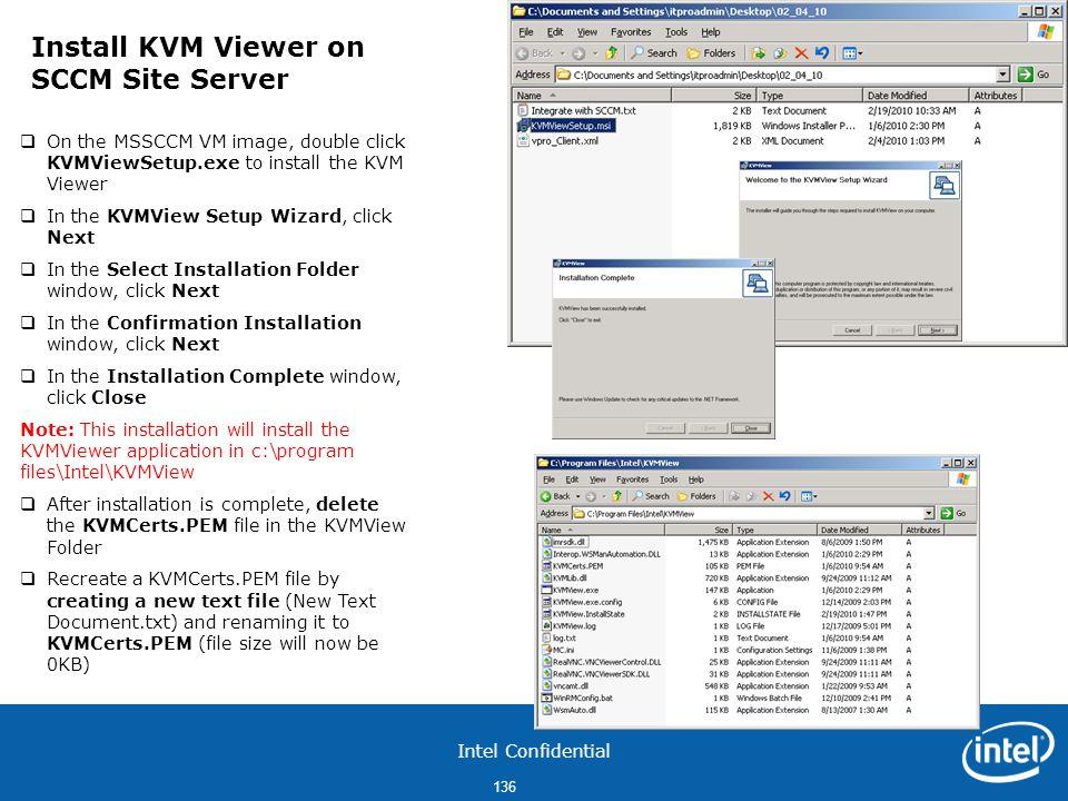 Install KVM Viewer on SCCM Site Server
