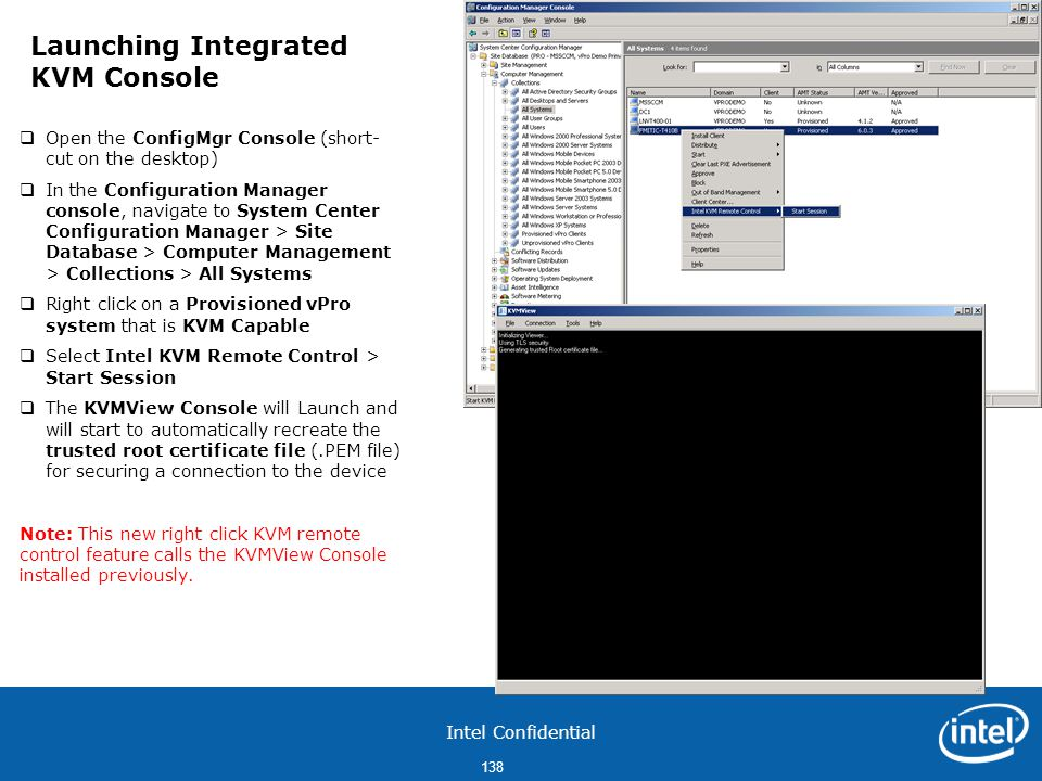 Launching Integrated KVM Console