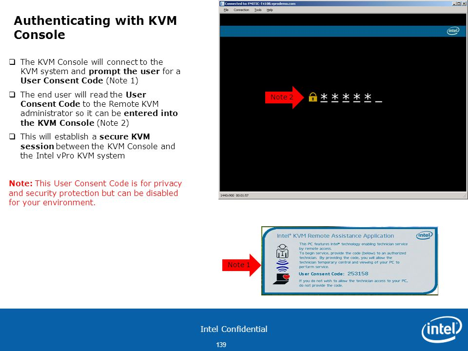 Authenticating with KVM Console