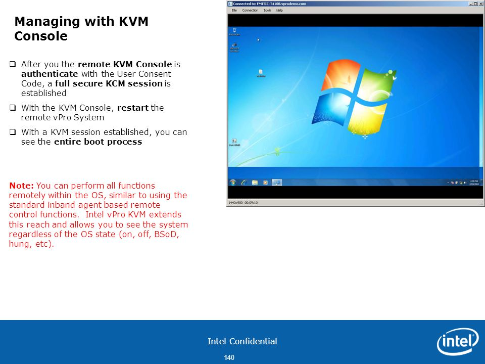 Managing with KVM Console