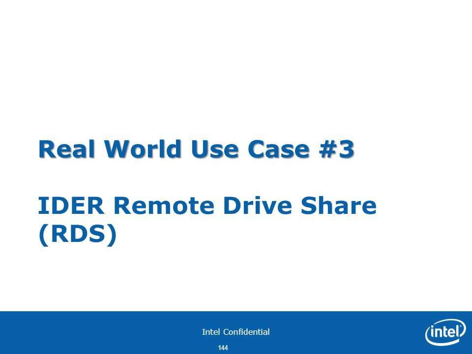 Real World Use Case #3 IDER Remote Drive Share (RDS)