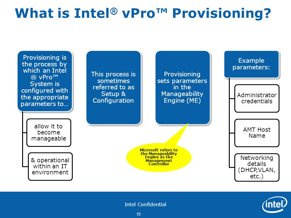 What is Intel® vPro™ Provisioning