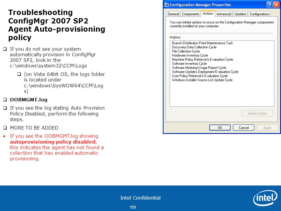 Troubleshooting ConfigMgr 2007 SP2 Agent Auto-provisioning policy