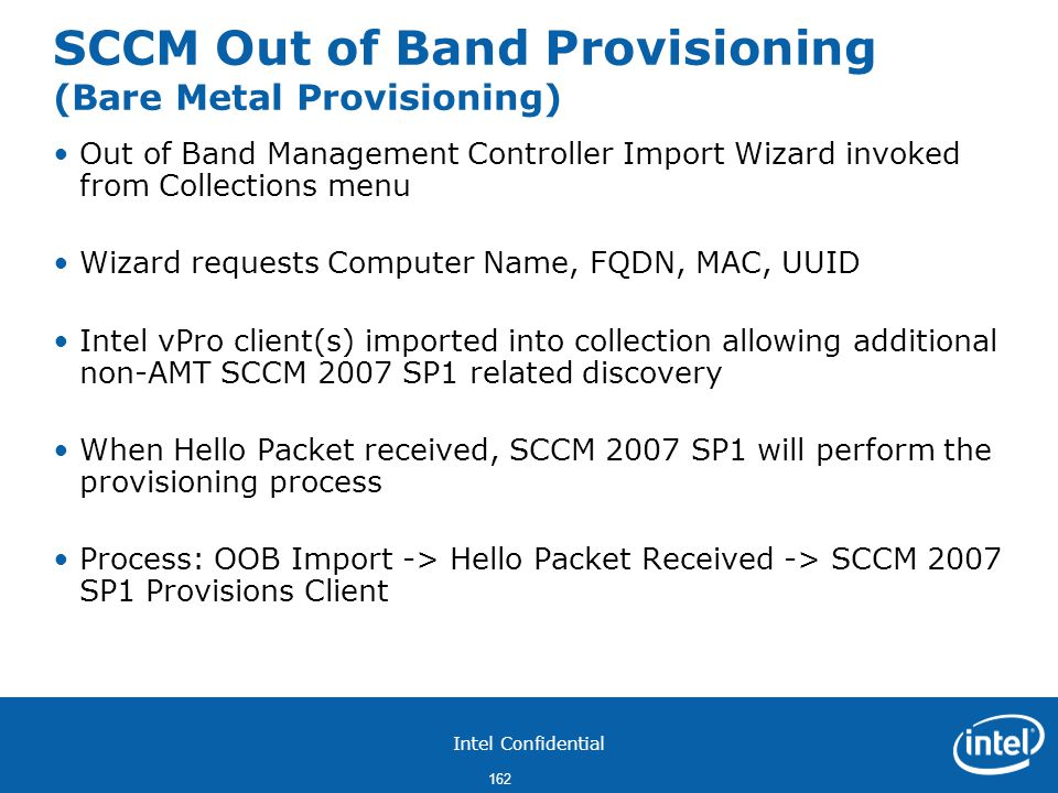 SCCM Out of Band Provisioning (Bare Metal Provisioning)