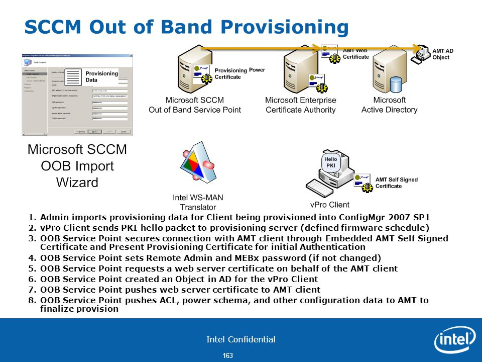 SCCM Out of Band Provisioning