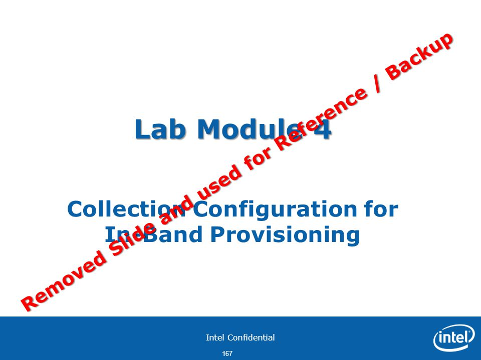 Lab Module 4 Collection Configuration for In-Band Provisioning