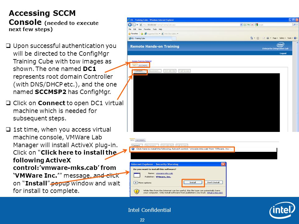 Accessing SCCM Console (needed to execute next few steps)