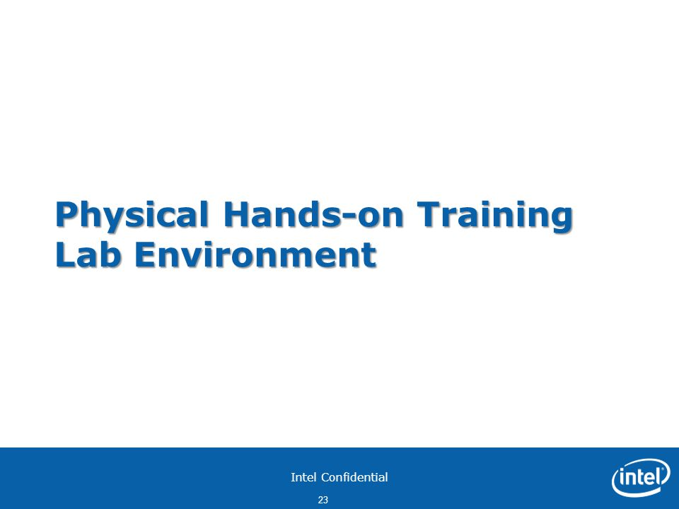 Physical Hands-on Training Lab Environment