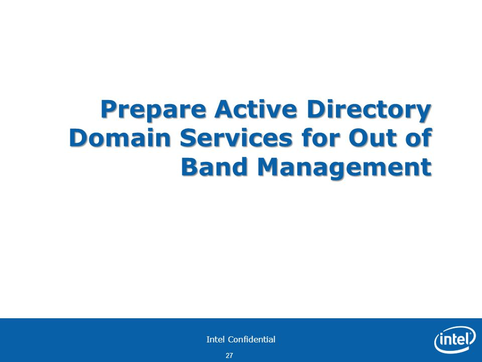 Prepare Active Directory Domain Services for Out of Band Management