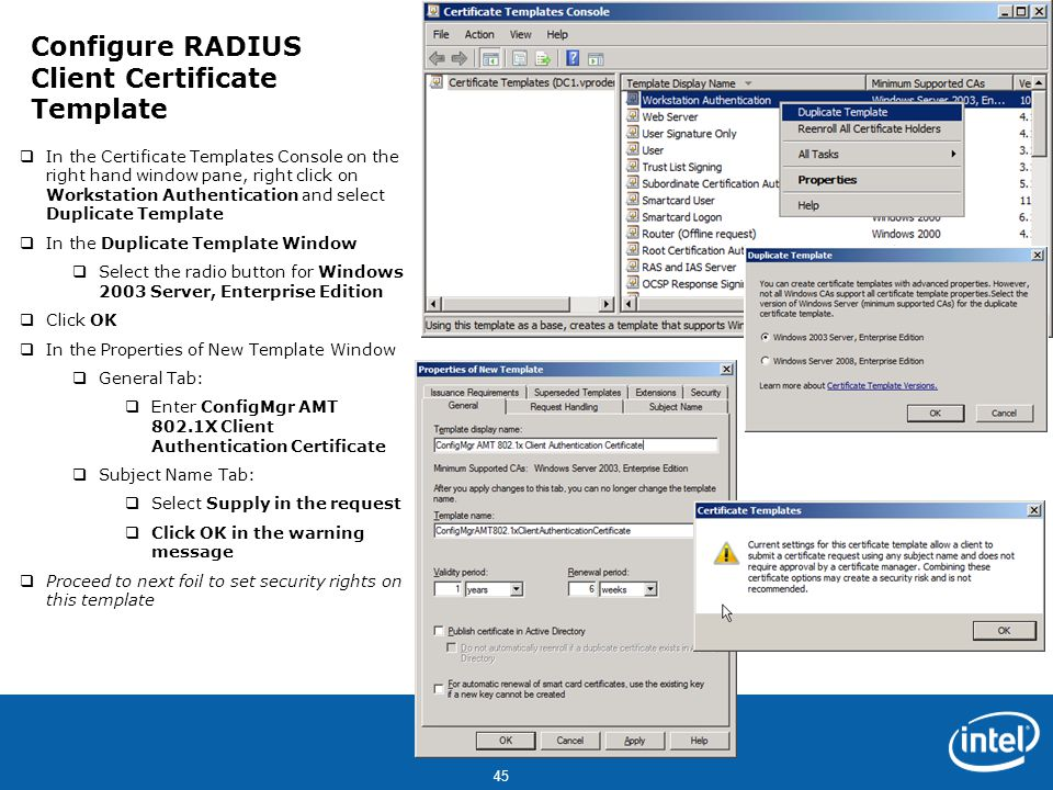 Welcome this step by step training guide is intended to get you configure radius client certificate template yadclub Images
