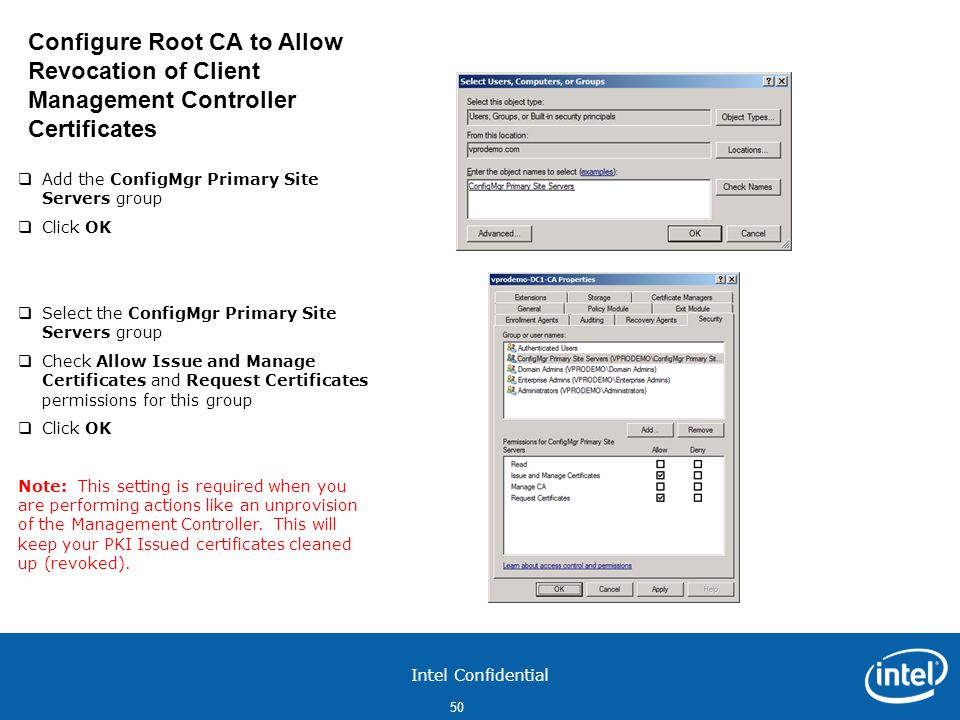 Configure Root CA to Allow Revocation of Client Management Controller Certificates