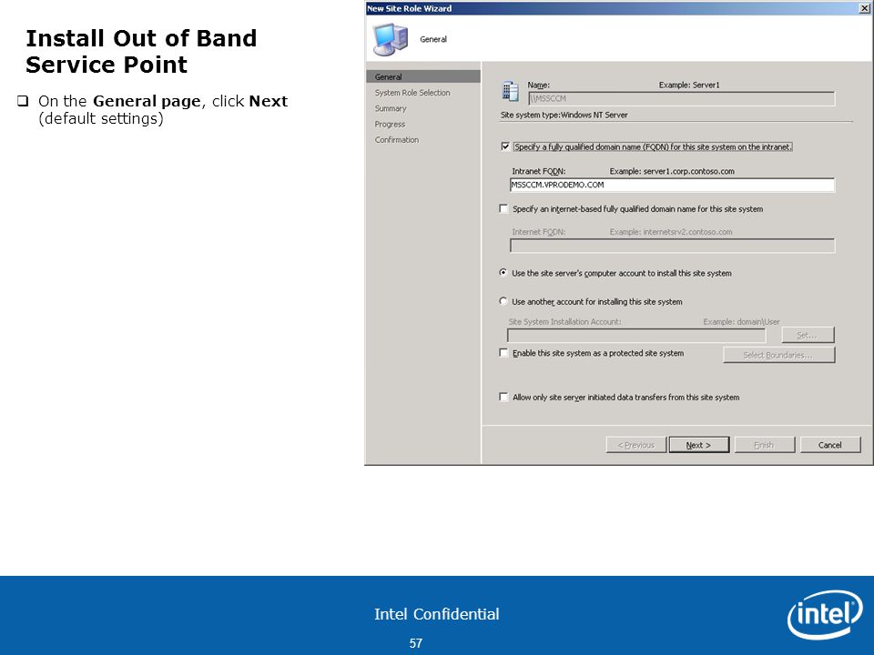 Install Out of Band Service Point