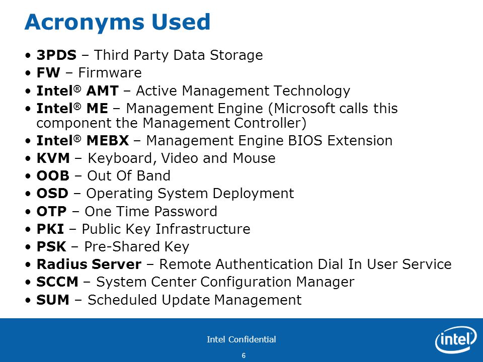 Acronyms Used 3PDS – Third Party Data Storage FW – Firmware
