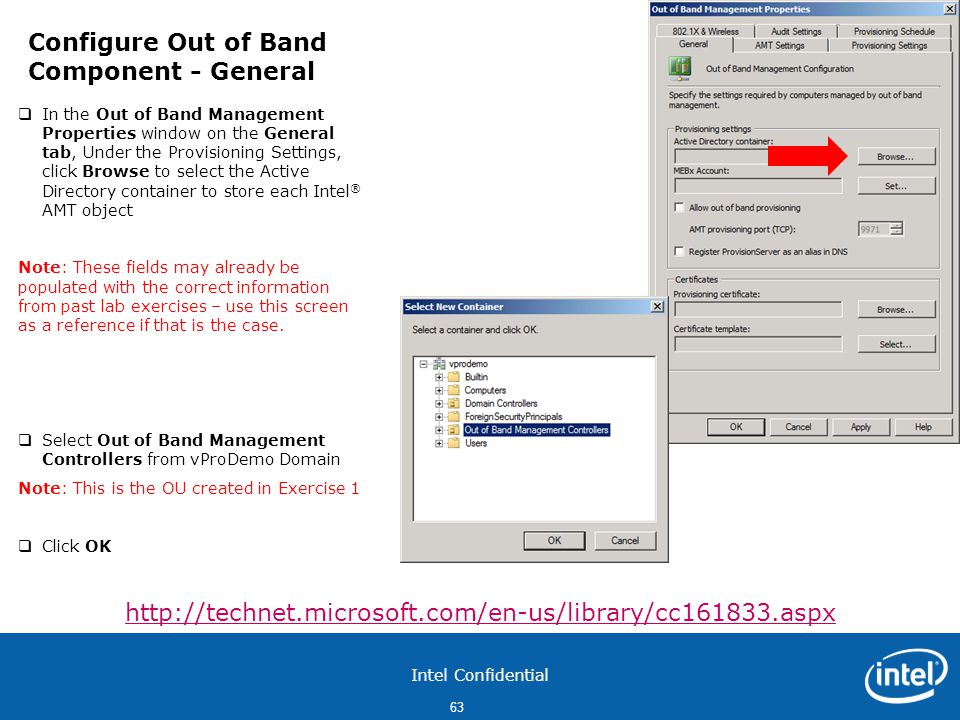 Configure Out of Band Component - General