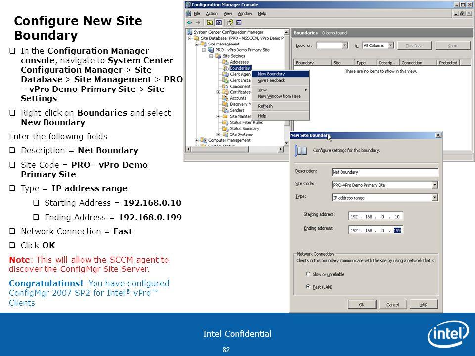 Configure New Site Boundary