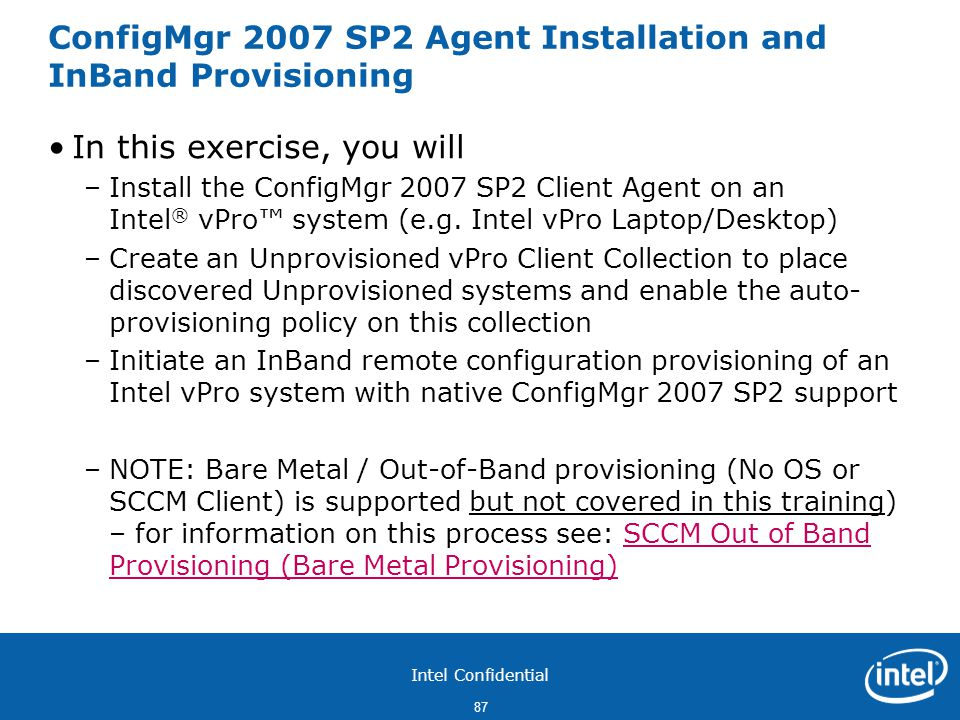ConfigMgr 2007 SP2 Agent Installation and InBand Provisioning