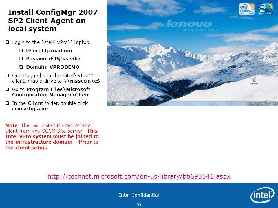 Install ConfigMgr 2007 SP2 Client Agent on local system
