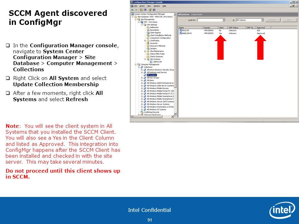 SCCM Agent discovered in ConfigMgr