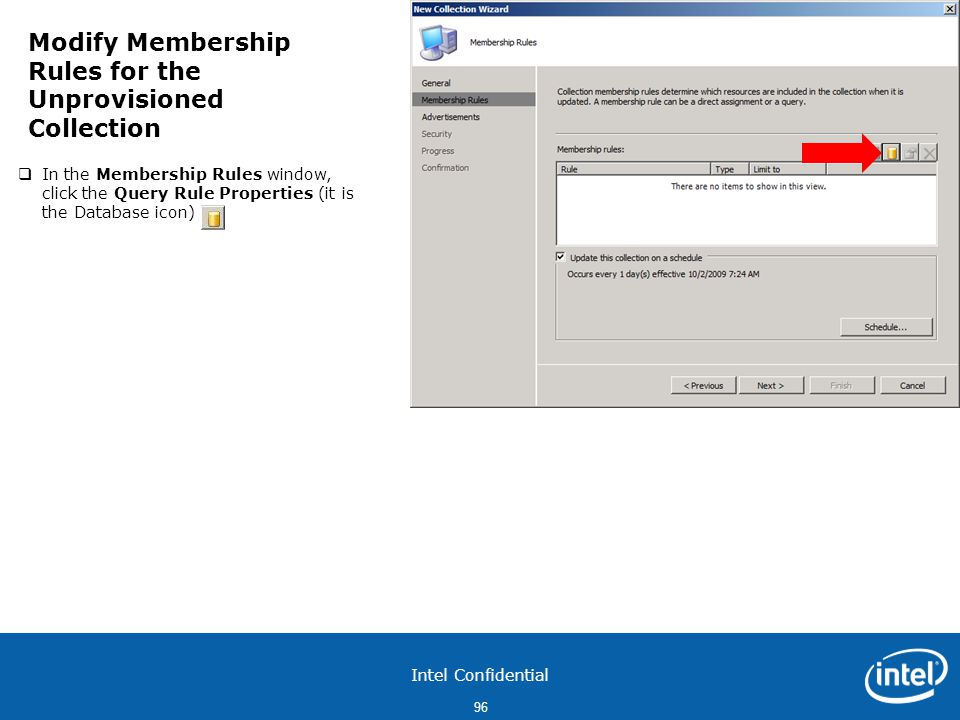 Modify Membership Rules for the Unprovisioned Collection