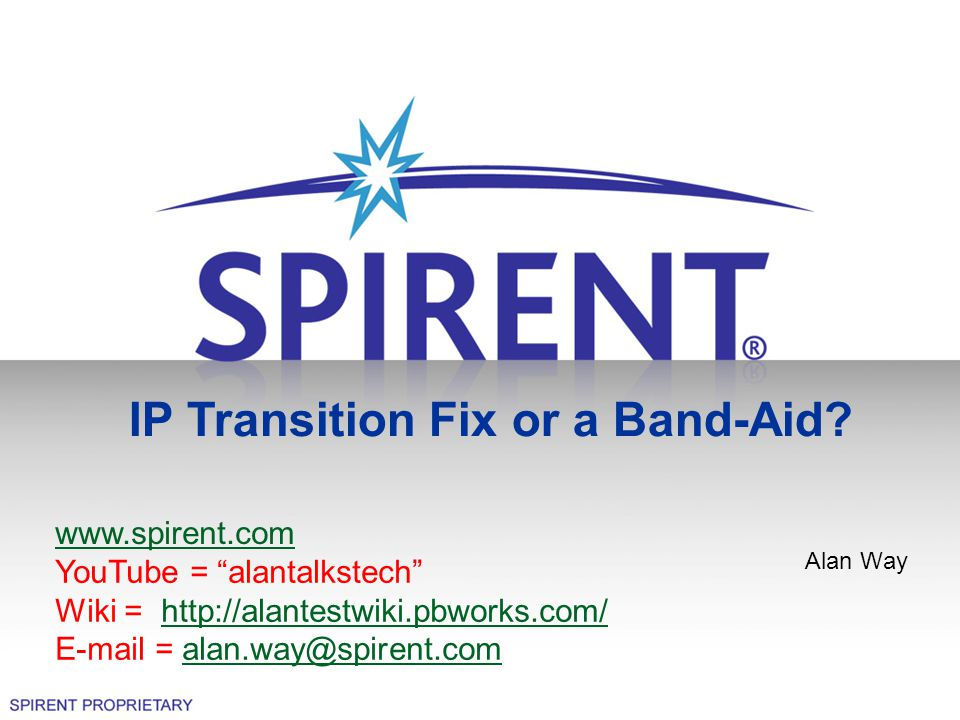 IP Transition Fix or a Band-Aid