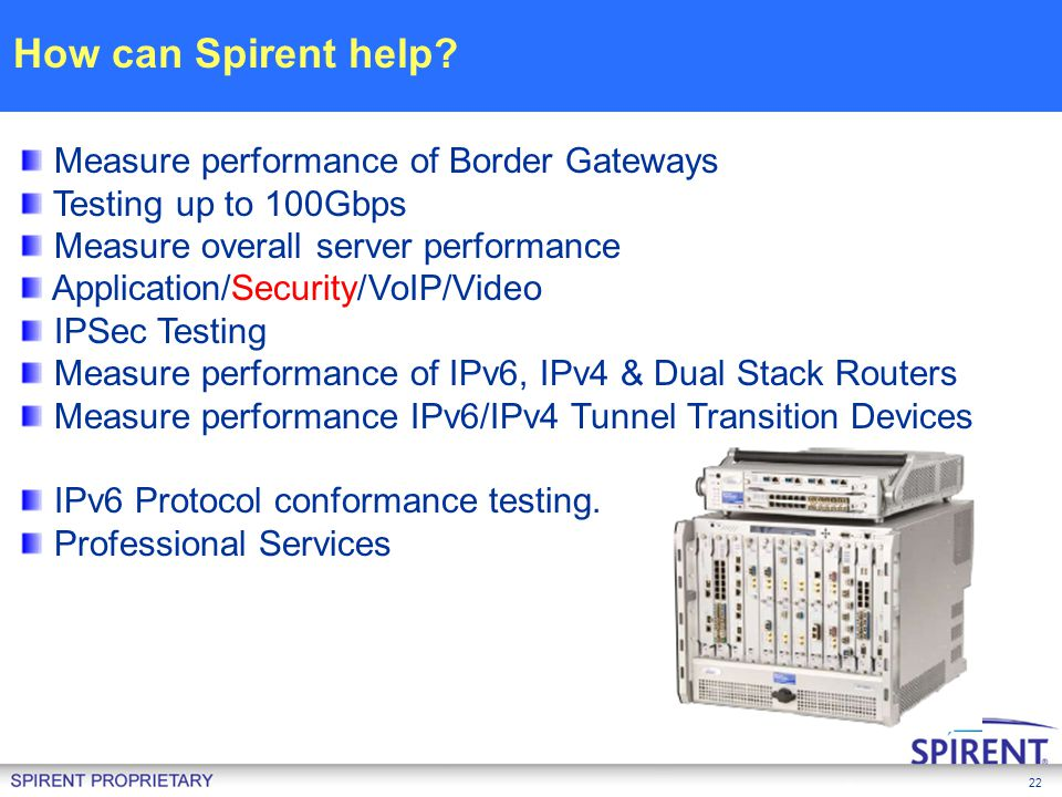 How can Spirent help Measure performance of Border Gateways