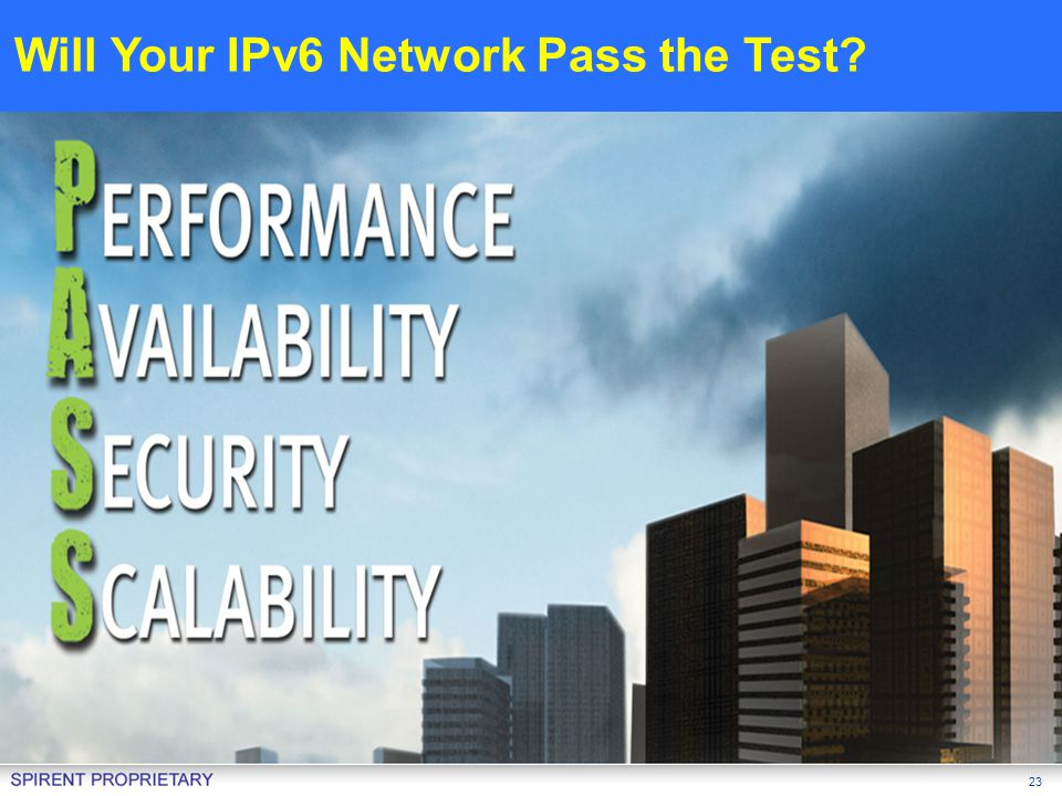 Will Your IPv6 Network Pass the Test