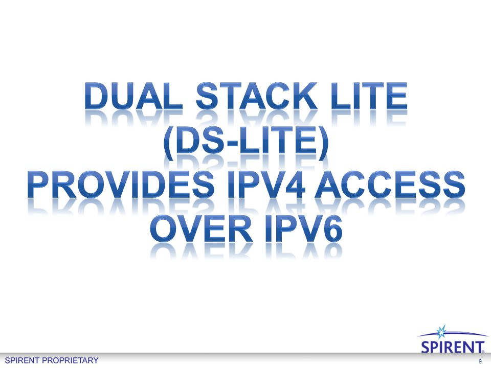 Dual Stack Lite (DS-Lite) Provides IPv4 access Over ipv6