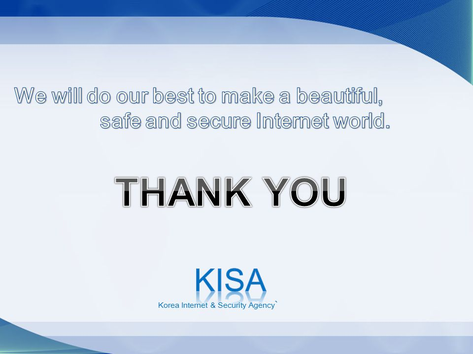 safe and secure Internet world.