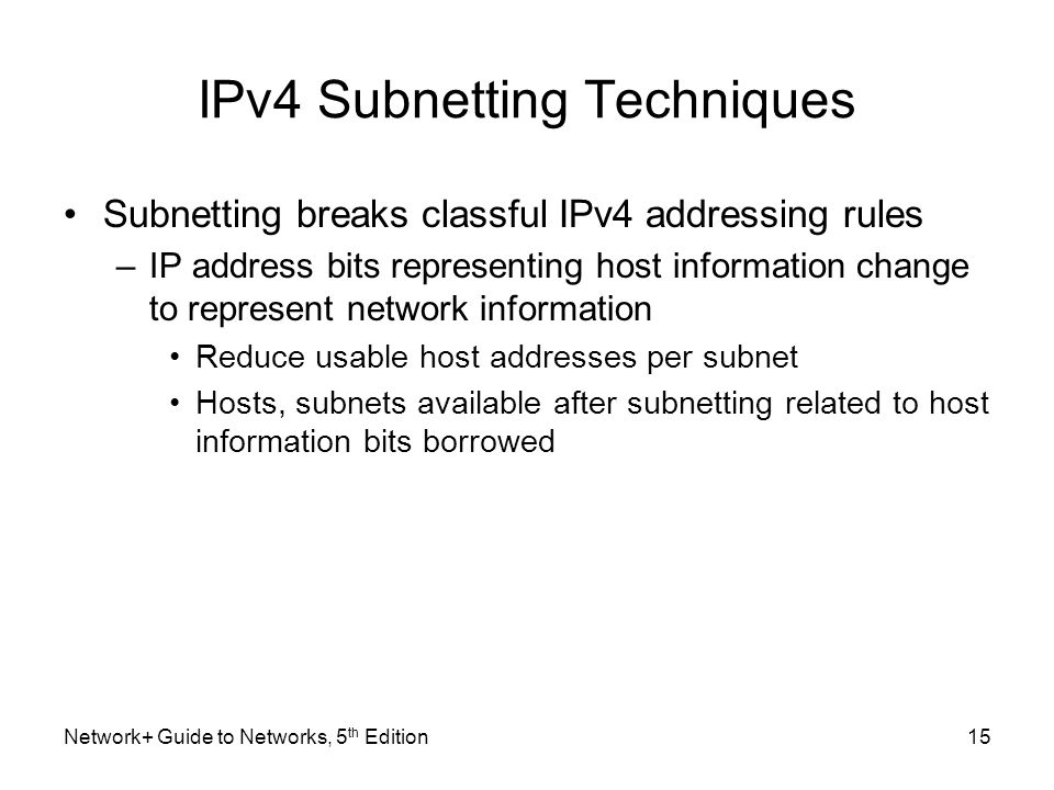 IPv4 Subnetting Techniques