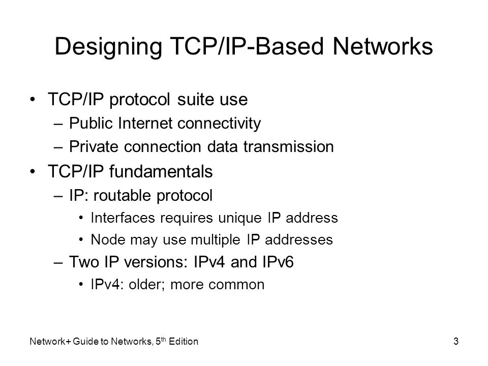 Designing TCP/IP-Based Networks