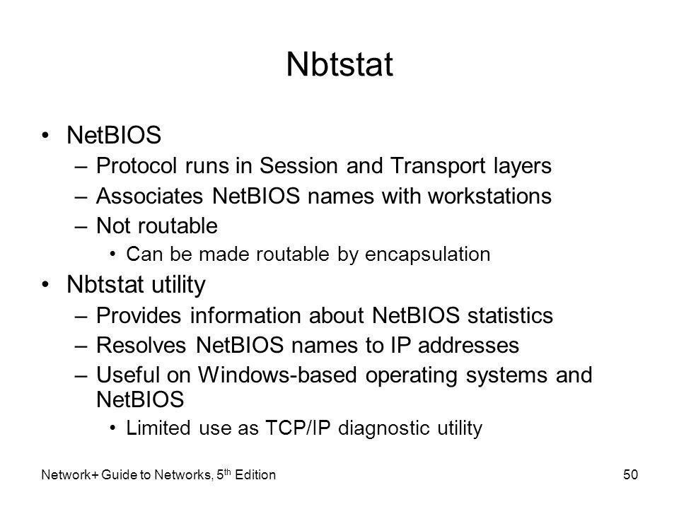 Nbtstat NetBIOS Nbtstat utility