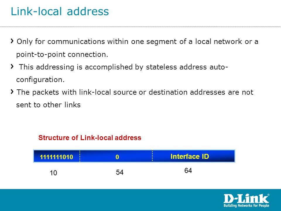 Structure of Link-local address