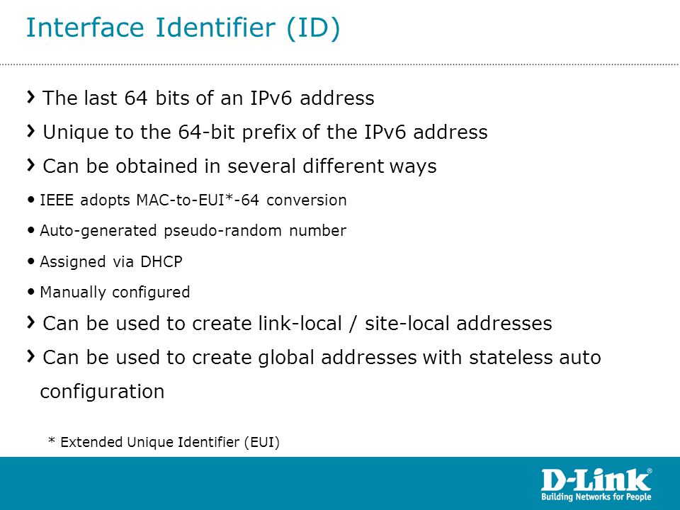 Interface Identifier (ID)