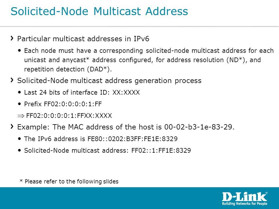 Solicited-Node Multicast Address